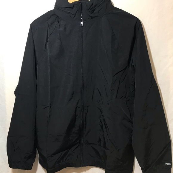 Victoria's Secret PINK Black NWT New Anorak Jacket